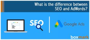 What is the difference between SEO and AdWords?